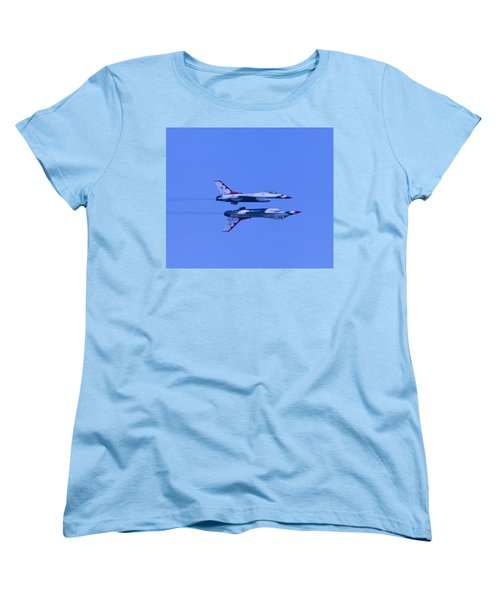 Thunderbirds Solos 6 Over 5 Inverted Women's T-Shirt (Standard Cut) by Donna Corless