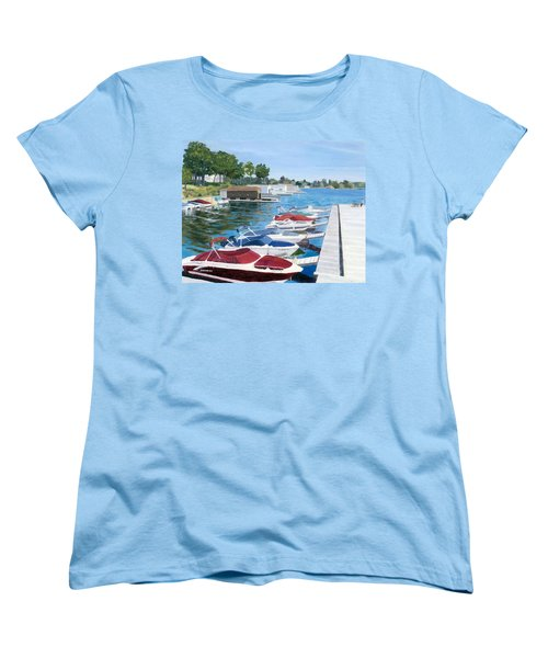 Women's T-Shirt (Standard Cut) featuring the painting T.i. Park Marina by Lynne Reichhart
