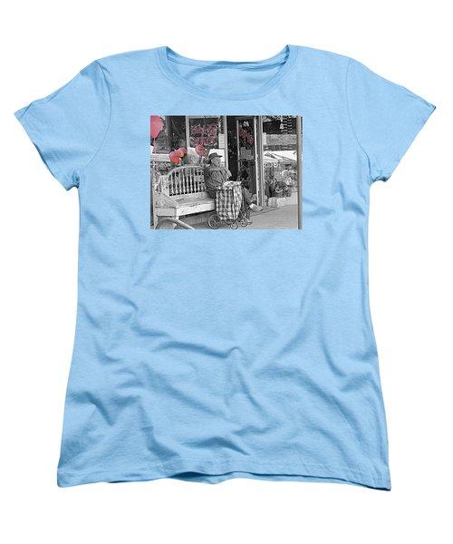 Women's T-Shirt (Standard Cut) featuring the photograph Tickled Pink by Bartz Johnson