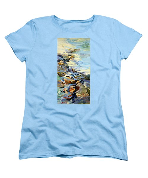 Women's T-Shirt (Standard Cut) featuring the painting Tidepool 3 by Rae Andrews