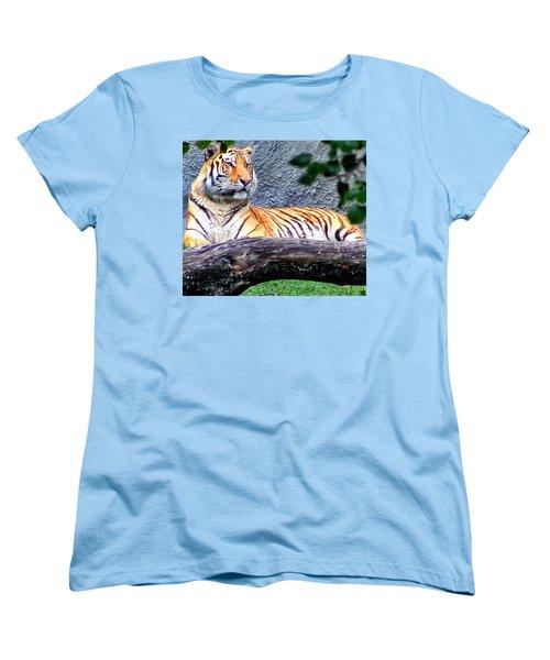 Women's T-Shirt (Standard Cut) featuring the photograph Tiger 1 by Dawn Eshelman