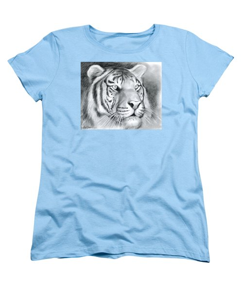 Tiger Women's T-Shirt (Standard Cut) by Greg Joens