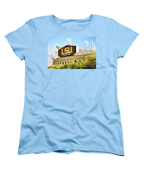 Tiger Stadium Women's T-Shirt (Standard Cut) by Scott Pellegrin