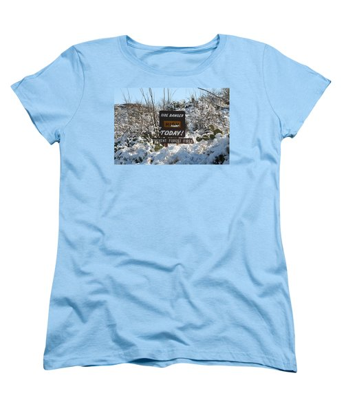 Women's T-Shirt (Standard Cut) featuring the photograph Time To Change The Sign by David S Reynolds
