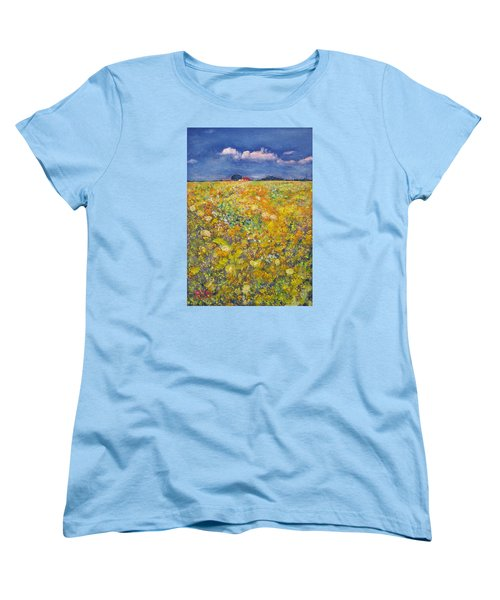 tiptoe Through Summer Meadow Women's T-Shirt (Standard Cut) by Richard James Digance
