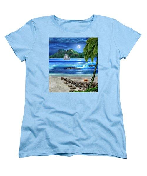 Tropical Paradise Women's T-Shirt (Standard Cut) by Glenn Holbrook
