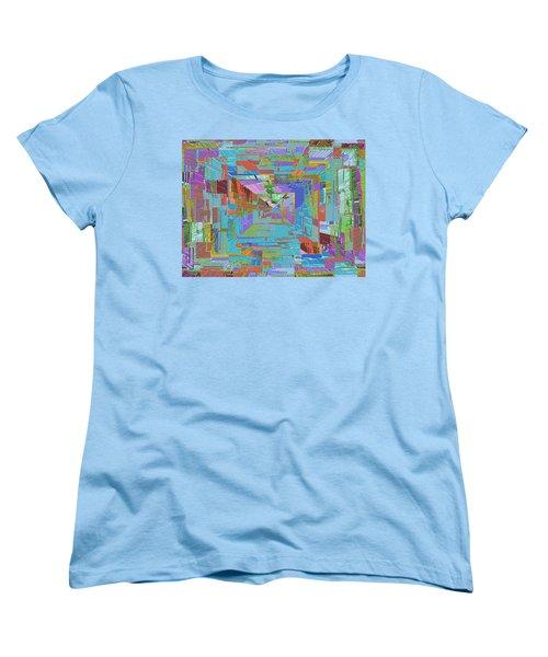 Topographic Albatross Women's T-Shirt (Standard Cut) by Tim Allen