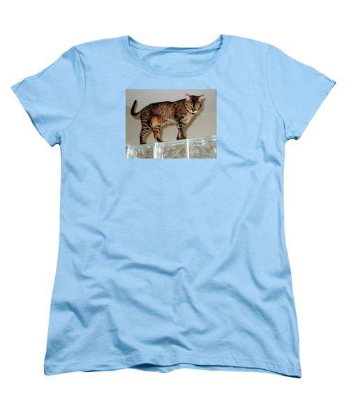 Women's T-Shirt (Standard Cut) featuring the photograph Tora On Glass II by Phyllis Kaltenbach