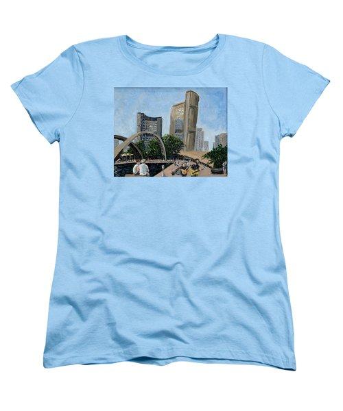 Toronto City Hall Women's T-Shirt (Standard Cut) by Ian  MacDonald