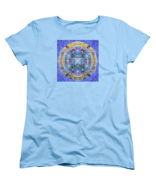 Women's T-Shirt (Standard Cut) featuring the digital art Torusphere Synthesis Interdimensioning Soulin Iv by Christopher Pringer
