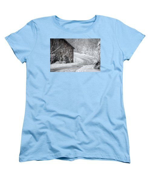 Touched By Snow Women's T-Shirt (Standard Cut) by Joan Carroll
