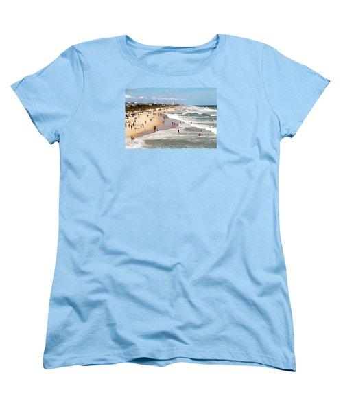 Tourist At Kure Beach Women's T-Shirt (Standard Cut) by Cynthia Guinn
