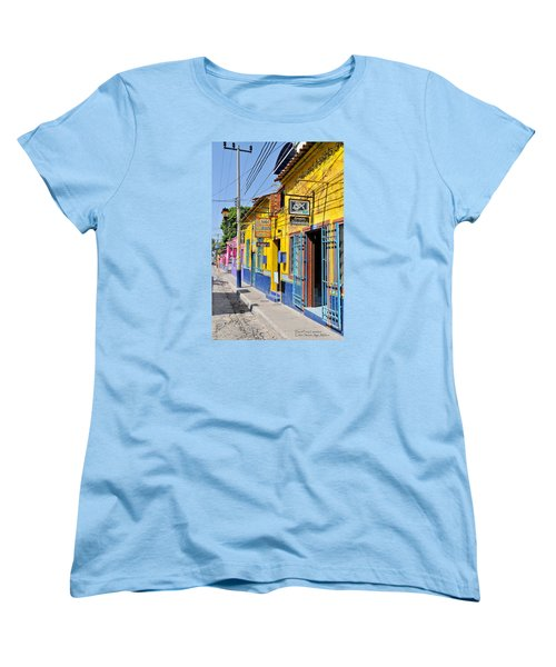 Women's T-Shirt (Standard Cut) featuring the photograph Tourist Shops - Mexico by David Perry Lawrence