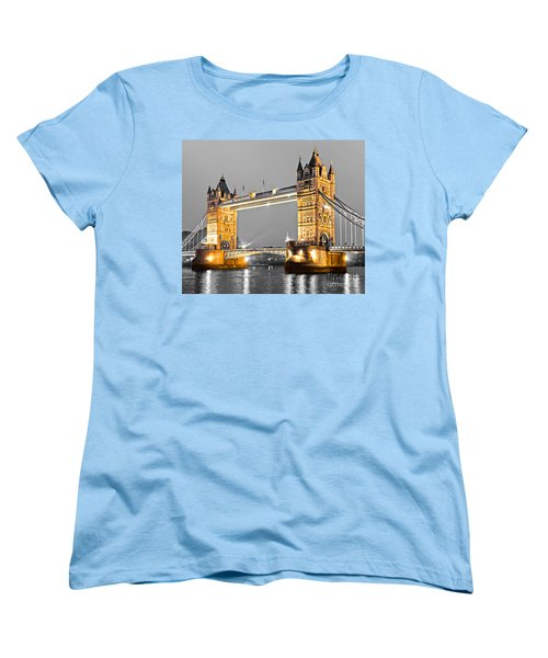Tower Bridge - London - Uk Women's T-Shirt (Standard Cut) by Luciano Mortula