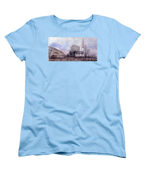 Women's T-Shirt (Standard Cut) featuring the painting Tranquility by Jasna Dragun