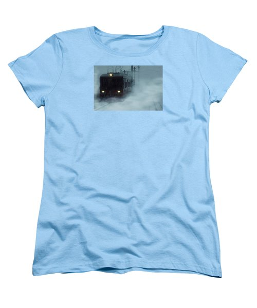 Traveling In The Snow... Women's T-Shirt (Standard Cut) by Vittorio Chiampan
