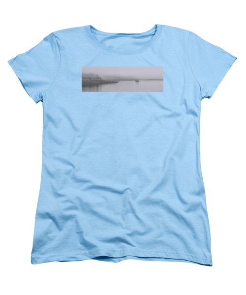 Women's T-Shirt (Standard Cut) featuring the photograph Trawler In Fog by Marty Saccone
