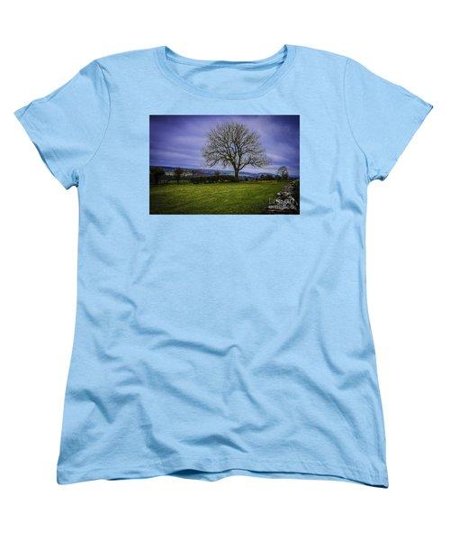Tree - Hadrian's Wall Women's T-Shirt (Standard Cut) by Mary Carol Story