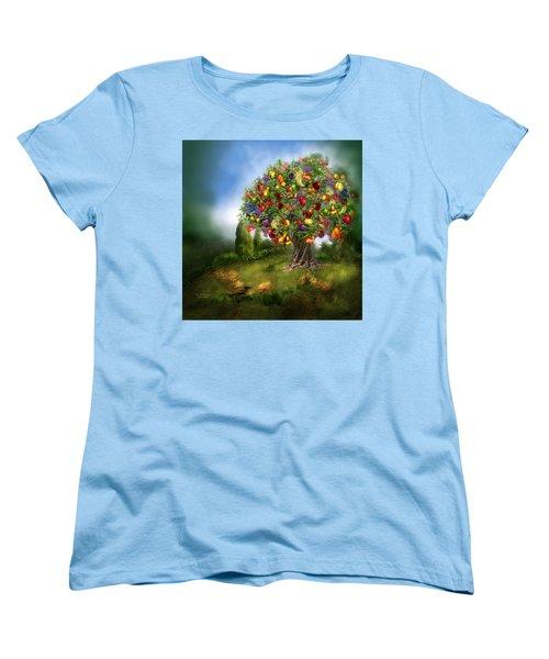 Tree Of Abundance Women's T-Shirt (Standard Cut) by Carol Cavalaris