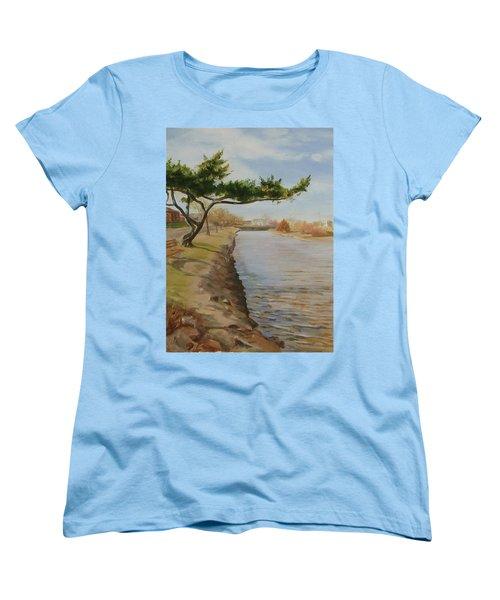 Tree With Lake Women's T-Shirt (Standard Cut)