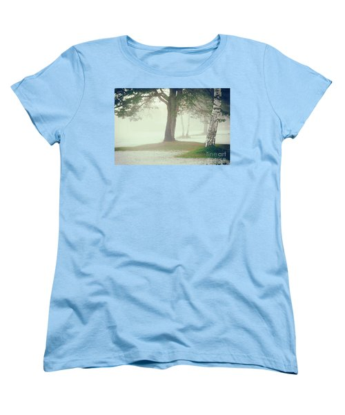 Women's T-Shirt (Standard Cut) featuring the photograph Trees In Fog by Silvia Ganora