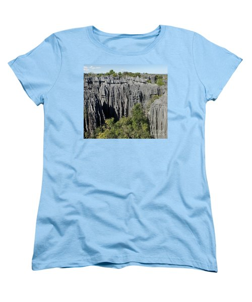 Women's T-Shirt (Standard Cut) featuring the photograph Tsingy De Bemaraha Madagascar 1 by Rudi Prott