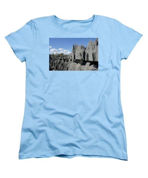 Women's T-Shirt (Standard Cut) featuring the photograph Tsingy De Bemaraha Madagascar 2 by Rudi Prott