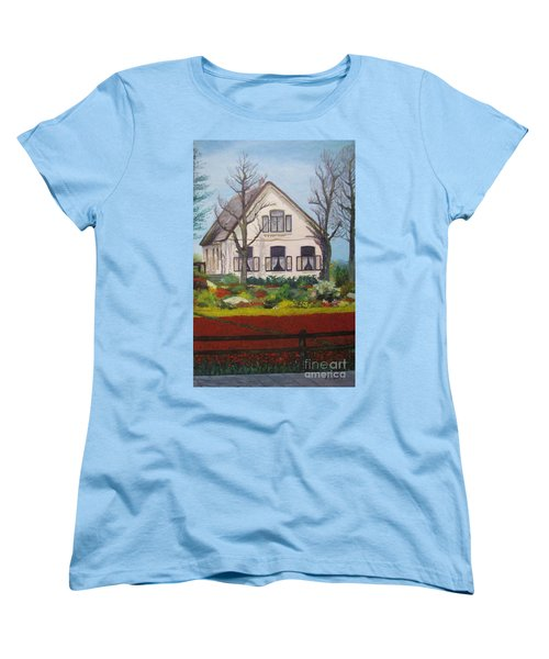 Tulip Cottage Women's T-Shirt (Standard Cut) by Martin Howard