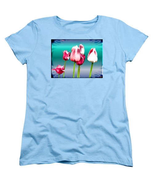 Women's T-Shirt (Standard Cut) featuring the digital art Tulips by Daniel Janda