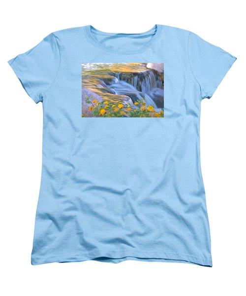 Tumbling Waters Women's T-Shirt (Standard Cut) by Deb Halloran