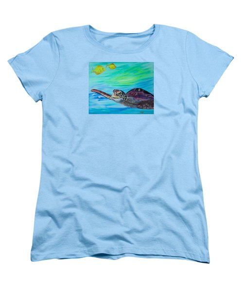 Women's T-Shirt (Standard Cut) featuring the painting Traveling Through by Meryl Goudey