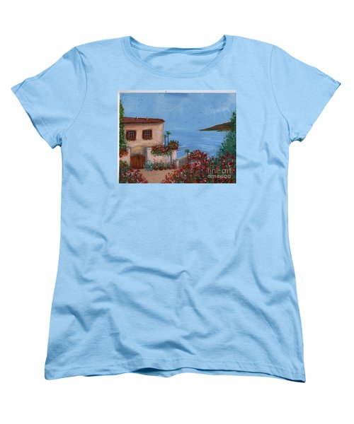 Tuscany View Women's T-Shirt (Standard Cut) by Becky Lupe