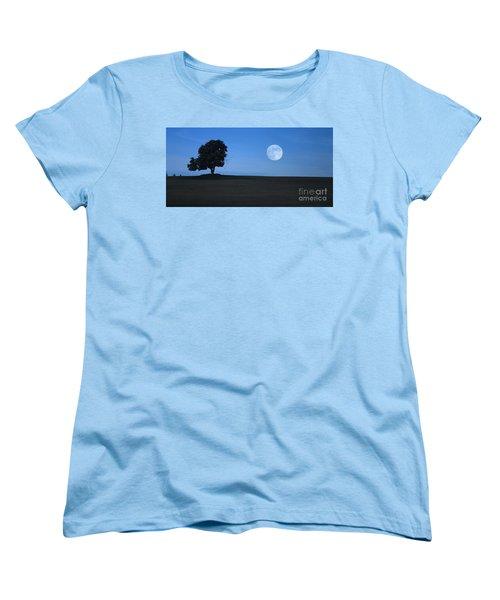 Women's T-Shirt (Standard Cut) featuring the photograph Twilight Solitude by Sharon Elliott