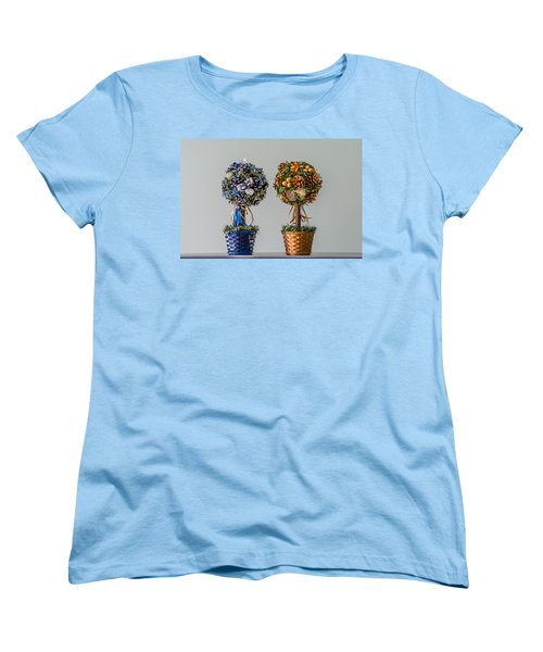 Twin Trees Women's T-Shirt (Standard Cut) by Tgchan
