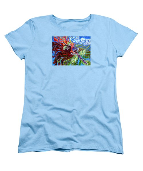 Two Dragonflies Women's T-Shirt (Standard Cut) by Genevieve Esson