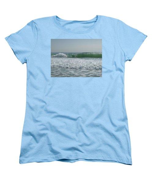 Two Green Waves Women's T-Shirt (Standard Cut)