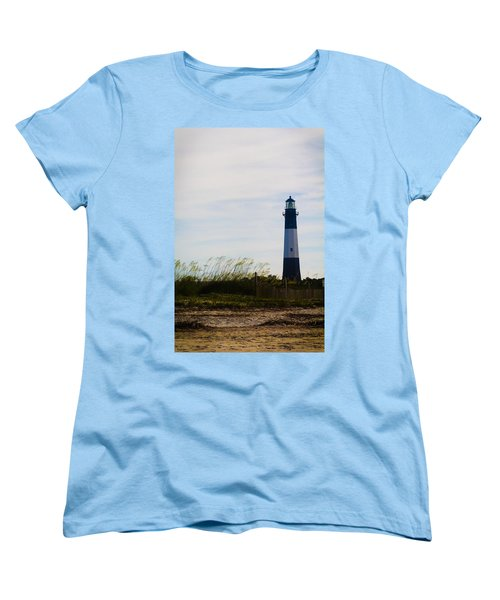Tybee Island Lighthouse Women's T-Shirt (Standard Cut) by Jessica Brawley