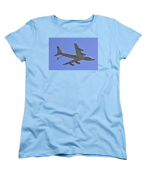 Women's T-Shirt (Standard Cut) featuring the photograph U S Air Force Flyover by DigiArt Diaries by Vicky B Fuller