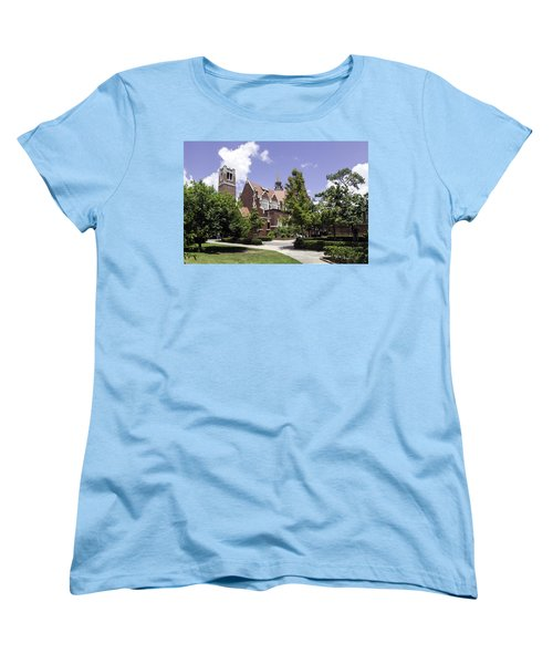 Uf University Auditorium And Century Tower Women's T-Shirt (Standard Cut) by Lynn Palmer