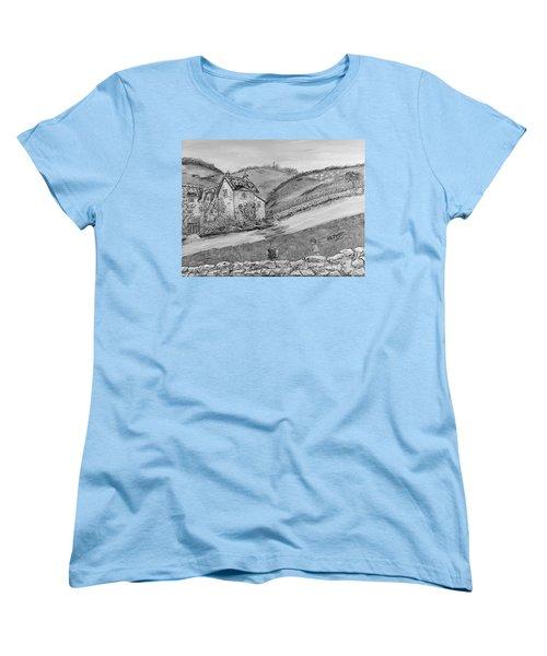 Women's T-Shirt (Standard Cut) featuring the painting Un Pomeriggio D'estate by Loredana Messina