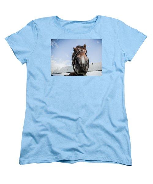 Up Close Women's T-Shirt (Standard Cut) by Alexey Stiop