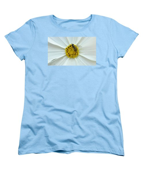 Up Close With The Bee And The Cosmo Women's T-Shirt (Standard Cut) by Verana Stark
