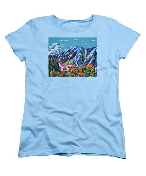 Up To The Mountains Women's T-Shirt (Standard Cut) by Erika Pochybova