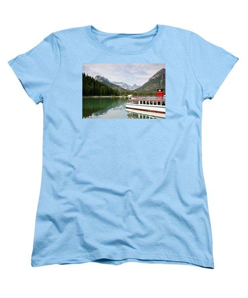 Women's T-Shirt (Standard Cut) featuring the photograph Upper Waterton Lakes by Teresa Zieba