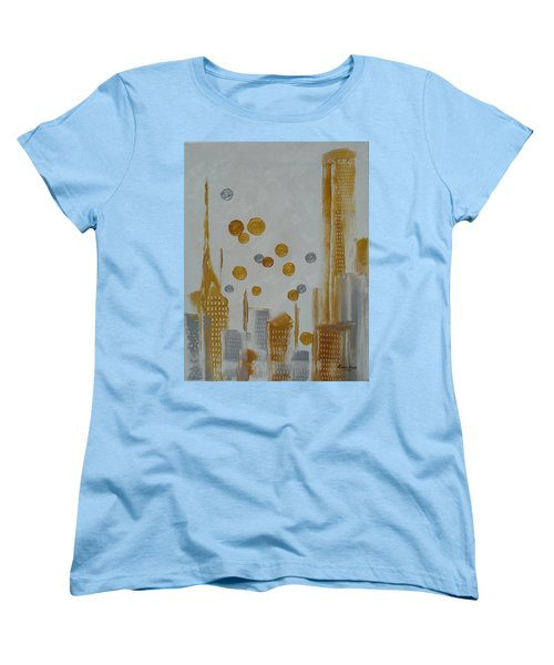 Women's T-Shirt (Standard Cut) featuring the painting Urban Polish by Judith Rhue