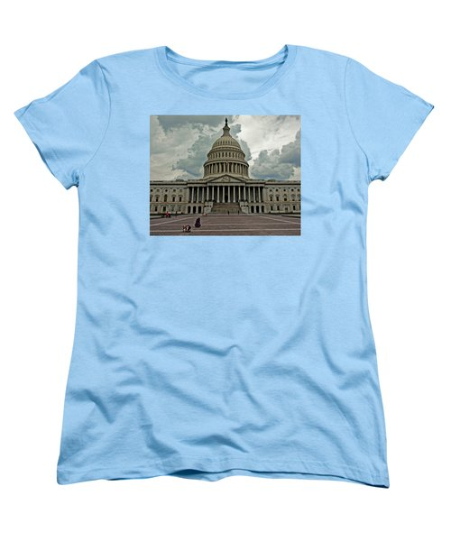 Women's T-Shirt (Standard Cut) featuring the photograph U.s. Capitol Building by Suzanne Stout