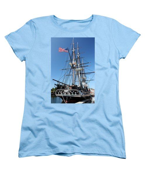 Uss Constitution Women's T-Shirt (Standard Cut) by Kristin Elmquist