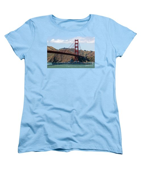 U.s.s. Iowa Up Close Women's T-Shirt (Standard Cut) by Kate Brown