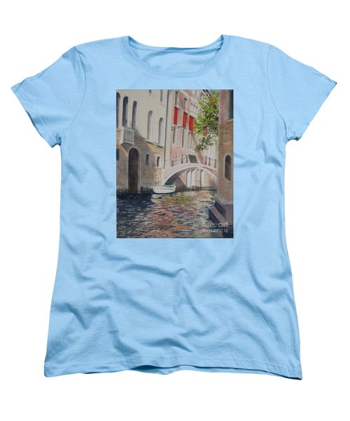 Women's T-Shirt (Standard Cut) featuring the painting Venice 2000 by Carol Flagg