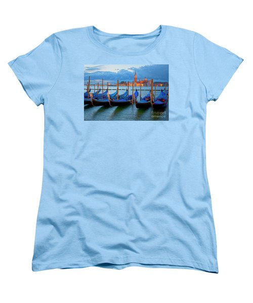 Venice View To San Giorgio Maggiore Women's T-Shirt (Standard Cut) by Heiko Koehrer-Wagner